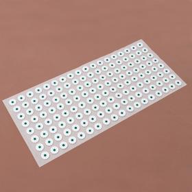 Аппликатор - коврик, 26 × 56 см, 144 модуля, цвет белый/зелёный