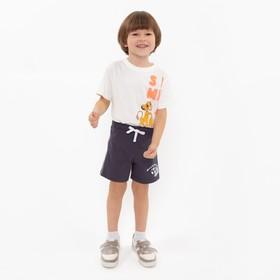 Шортики для мальчика, цвет серый, рост 104 см