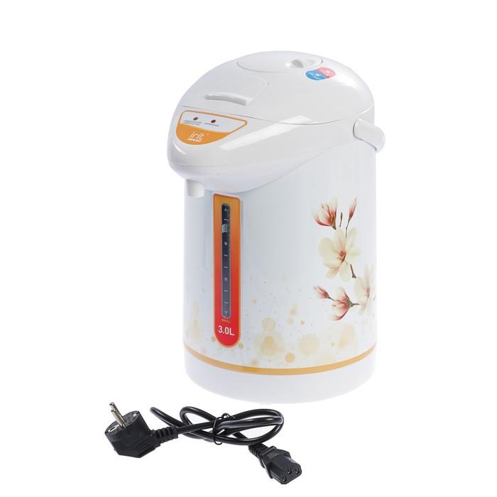 Термопот Irit IR-1404, 750 Вт, 3 л, бело-оранжевый