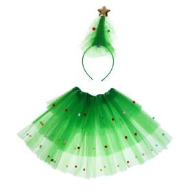 Карнавальный набор «Ёлочка», 2 предмета: ободок, юбка, 3-5 лет