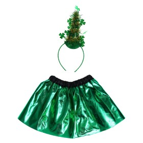 Карнавальный набор «Ёлка», 2 предмета: ободок, юбка однослойная, 3-5 лет