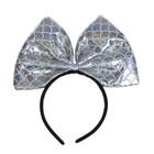 Карнавальный набор «Красотка», 2 предмета: ободок, юбка, 3-5 лет, цвет серебряный - фото 105446613