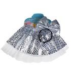 Карнавальный набор «Красотка», 2 предмета: ободок, юбка, 3-5 лет, цвет серебряный - фото 105446614
