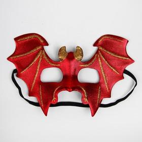 "Carnival mask ""Bat"", red"