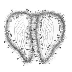 Карнавальные крылья «Ангел», для детей, цвет серебряный