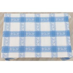 Скатерть, размер 160 х 180 см, цвет синий, жаккард