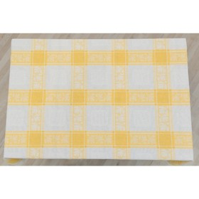 Скатерть, размер 160 × 250 см, цвет, жёлтый, жаккард
