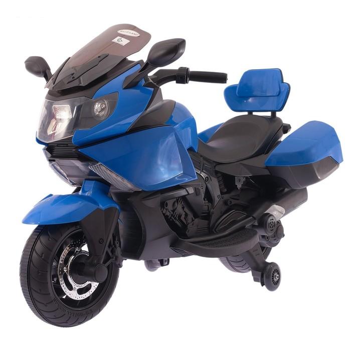 Электромобиль «Спортбайк», световые и звуковые эффекты, МИКС, Уценка (сломано сиденье, скол у колёс, нет фары, нет резинки на колесе)