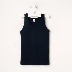 Майка для мальчика, цвет тёмно-синий, рост 98-104 см (2)