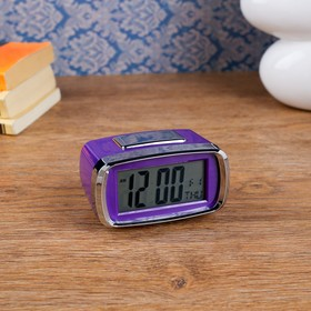 "Часы-будильник электронные ""Санкудо"", 10х6 см, микс, 2ааа"