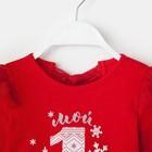 """Платье Крошка Я """"Мой первый Новый Год"""", красный, р.30, рост 98-104 - фото 105572476"""