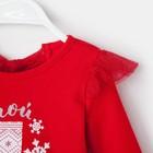 """Платье Крошка Я """"Мой первый Новый Год"""", красный, р.30, рост 98-104 - фото 105572477"""