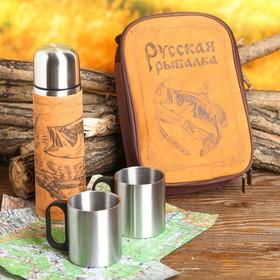 "A set of ""Russian fishing"", the flask 500 ml, mug 2 PCs"