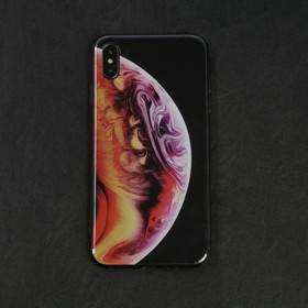 Чехол LuazON для телефона iPhone XS Max, силиконовый, рисунок планета Ош