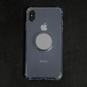 Чехол LuazON для телефона iPhone XS Max, противоударный с попсокетом, к магнитному креплению Ош