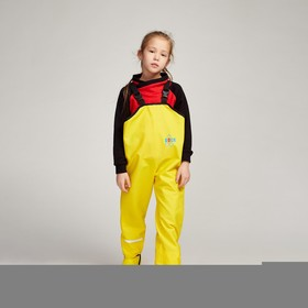 Полукомбинезон детский, непромокаемый, цвет жёлтый однотон, рост 104 см