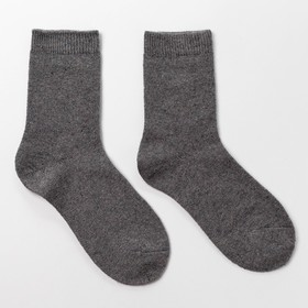 Women's woolen socks, color dark gray, size 21-25 (shoes 36-40)