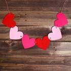 Набор для творчества — гирлянда своими руками «Сердечки», пластиковая игла - фото 399244