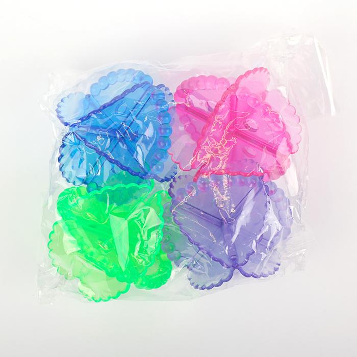 Набор шаров для стирки d=5 см, 4 шт, цвет МИКС