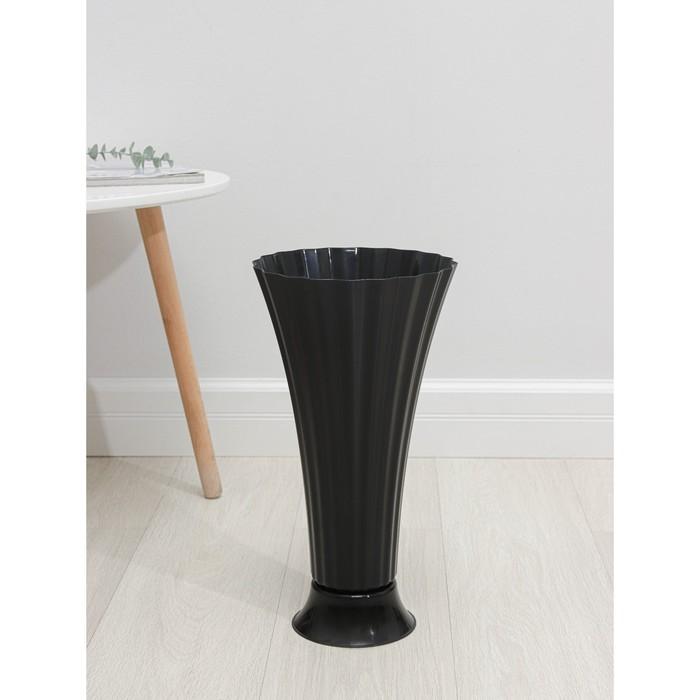Флакон под срезку, h=40,5 см, d=21,5 см, цвет чёрный