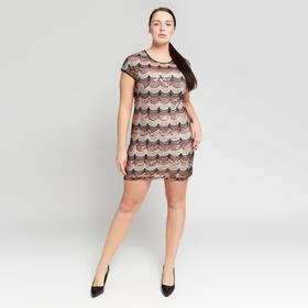 """Платье женское MINAKU """"Лайма"""", размер 46-48, цвет чёрный/золото"""