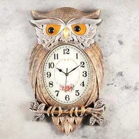 """Часы настенные, серия: Животные, """"Символ мудрости"""", 32х51 см, дискретный ход"""
