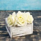 """Кашпо деревянное 15×16×8 см """"Элеонора"""", состаренный Дарим Красиво - фото 831997"""