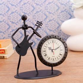 "Часы настольные ""Трубадур"", 19х17 см, циферблат d-7 см, 1 АА, микс"