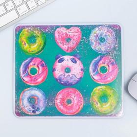 Коврик-шейкер для мыши «Пончики», 22 × 19 см