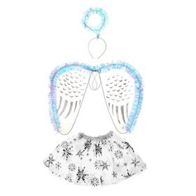 Карнавальный набор «Снежинка», 3 предмета: ободок, крылья, юбка