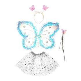 Карнавальный набор «Звёздочка», 4 предмета: крылья, жезл, юбка, ободок