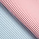 Бумага гофрированная, розово-голубая, 50 см х 66 см