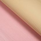 Бумага гофрированная, бежево-розовая, 50 см х 66 см