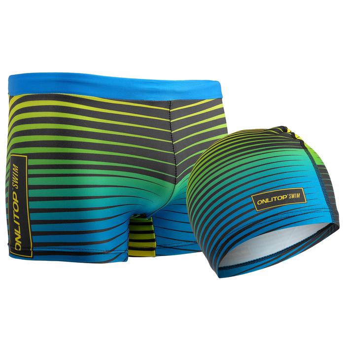 Комплект для плавания детский (плавки+шапочка) для мальчиков, размер 26, рост 110 см