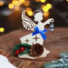 """Table souvenir wooden """"angel"""", 7,5 x 9 cm"""
