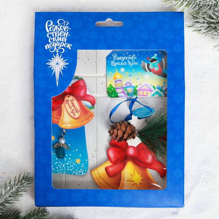 Набор рождественский «Колокольчики», 3 предмета: магнит, подвеска 2 шт