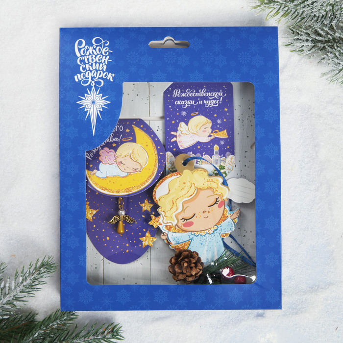 Набор рождественский «Сказочное Рождество», 3 предмета: магнит, подвеска 2 шт