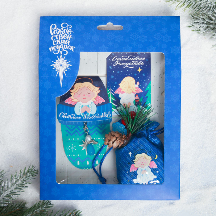 Набор рождественский «Ангел», 3 предмета: магнит, подвеска 2 шт