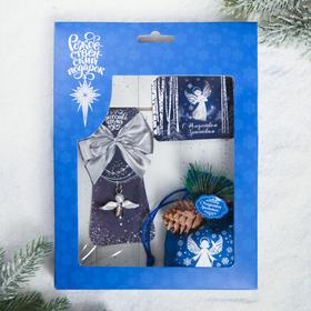 Набор рождественский «Сeребряное Рождество», 3 предмета: магнит, подвеска 2 шт