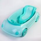 Ванночка детская с горкой и сливом, цвет зеленый - фото 105451910