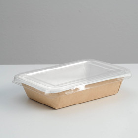 Салатник под запайку с прозрачной крышкой, 13,9 х 8,9 х 4 см