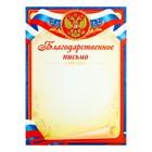 """Благодарственное письмо """"Символика РФ"""" синяя рамка, триколор"""