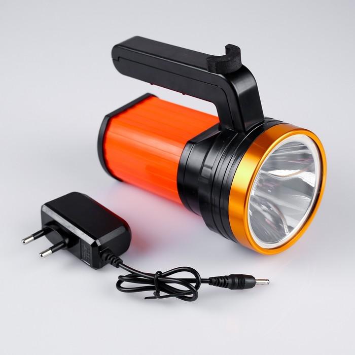 Фонарь переносной аккумуляторный, 1 LED, 3W, 3 режима, от сети, 14х12х8 см