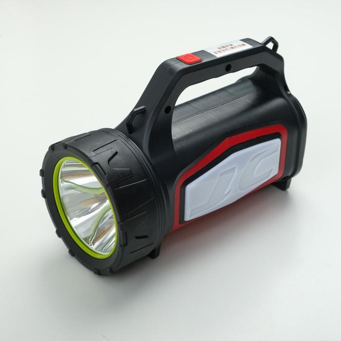 Фонарь переносной аккумуляторный, LED, 10W, 3+5 режимов, от сети, 20.5х15.5х10 см, микс