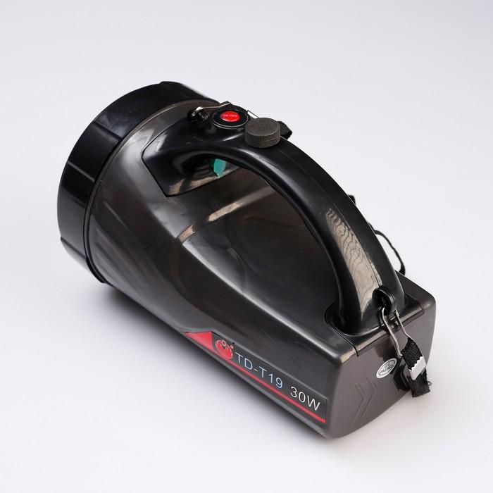 Фонарь переносной аккумуляторный, 1 LED, 15W, 3 режима, от сети, 19х14х14 см