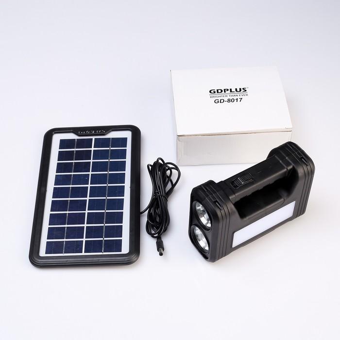 Кемпинговый набор: ручной фонарь, солнечная батарея, 3 лампы-люстры с выключателями