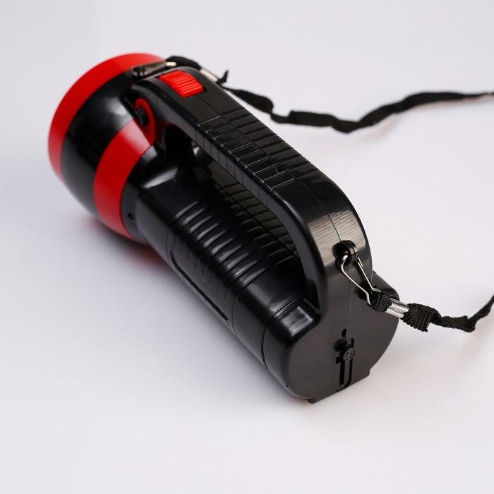 Фонарь переносной аккумуляторный, 1 LED, 1W, 2 режима, вилка в корпусе, 18х9.5 см