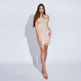 """Платье женское MINAKU """"Рута"""", размер 46-48, цвет бежевый"""