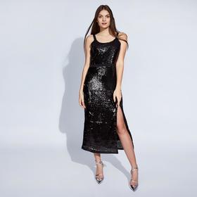 Платье женское MINAKU, цвет чёрный, размер 42