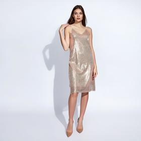Платье женское MINAKU, цвет золото, размер 42